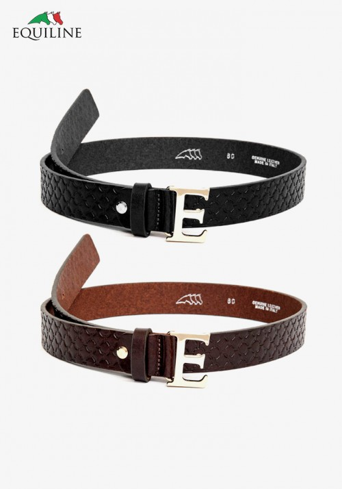 Equiline - Leather belt with buckle Brita