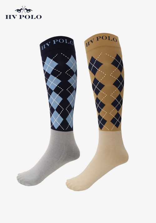 HV Polo - Boots Socks Argyle, 2 pairs in one set