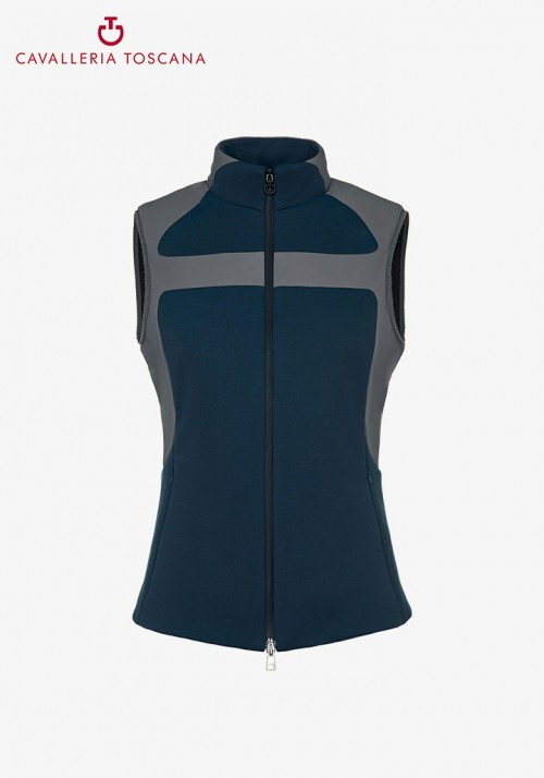 Cavalleria Toscana - Lightly Padded Windproof Piquet Vest With Jersey Insert