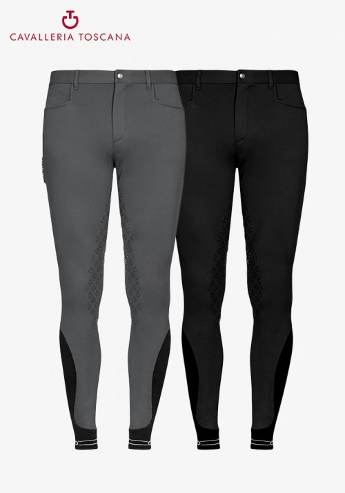 Cavalleria Toscana - Men's Full Grip Breeches CT Piping Logo