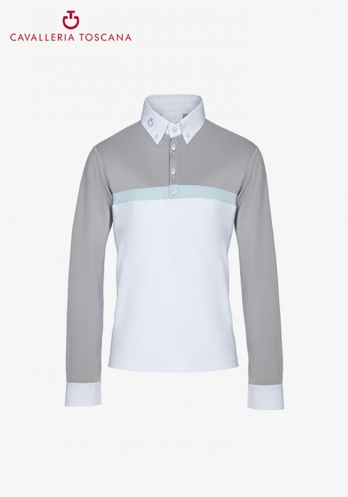 Cavalleria Toscana - Tech Piquet/Jersey L/S Competition Polo