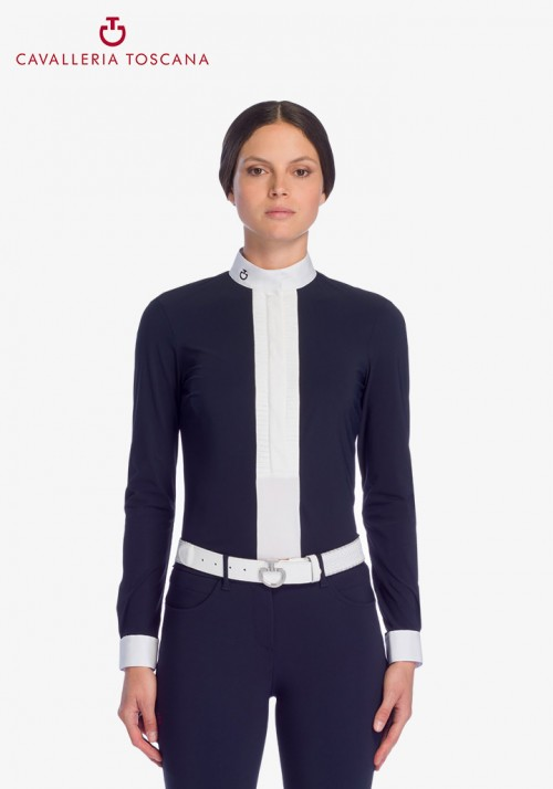 Cavalleria Toscana - Pleated Jersey L/S Shirt