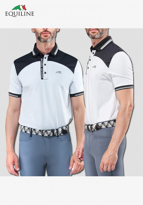 Equiline - Men's  Polo competition s/s Shirt Cyprian