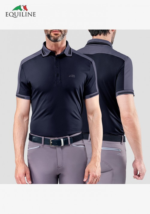 Equiline - Men's  Polo competition s/s Shirt Evans