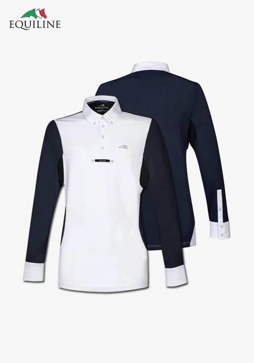 Equiline - Men's  Polo competition s/s Shirt Opalite