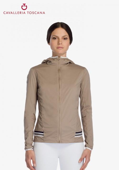 Cavalleria Toscana - Nylon Hooded Jacket W/Rib Knit Insert