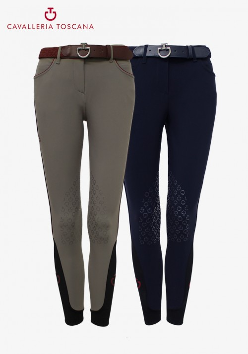 Cavalleria Toscana - women's Knee grip Outline breeches