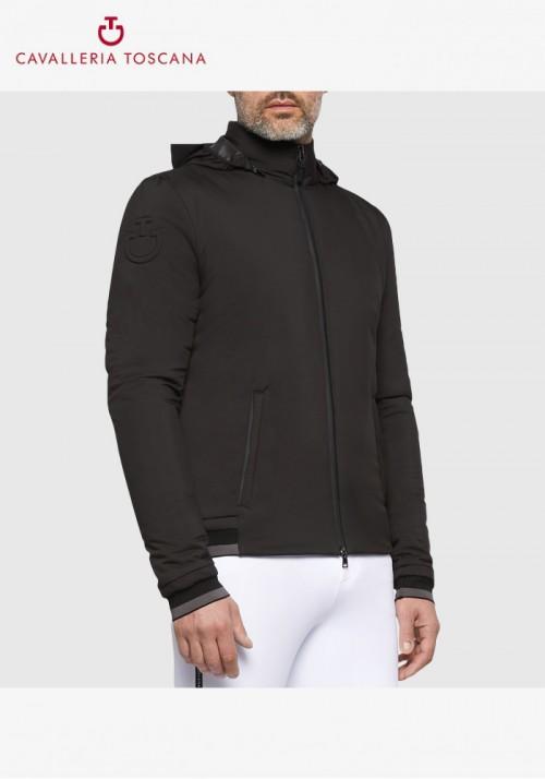 Cavalleria Toscana - Nylon Stretch Puffer Jersey W/Detachable Hood