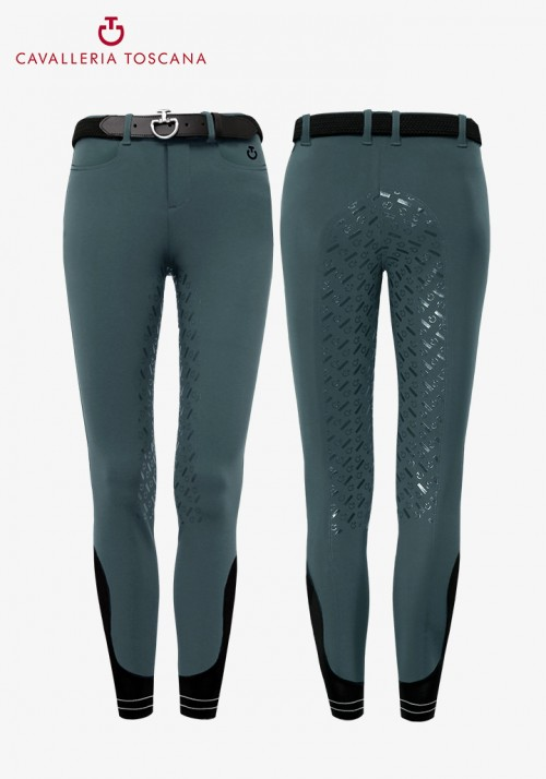 Cavalleria Toscana - Young rider Piping Logo Full Grip Breeches