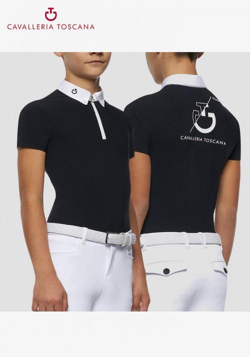 Cavalleria Toscana - CT Team S/S Zip Competition Polo