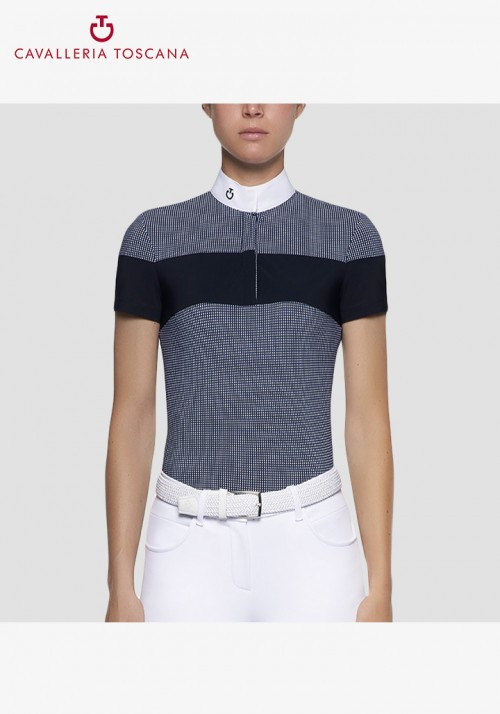 Cavalleria Toscana - Women's Gingham Check/Jersey Stripe S/S