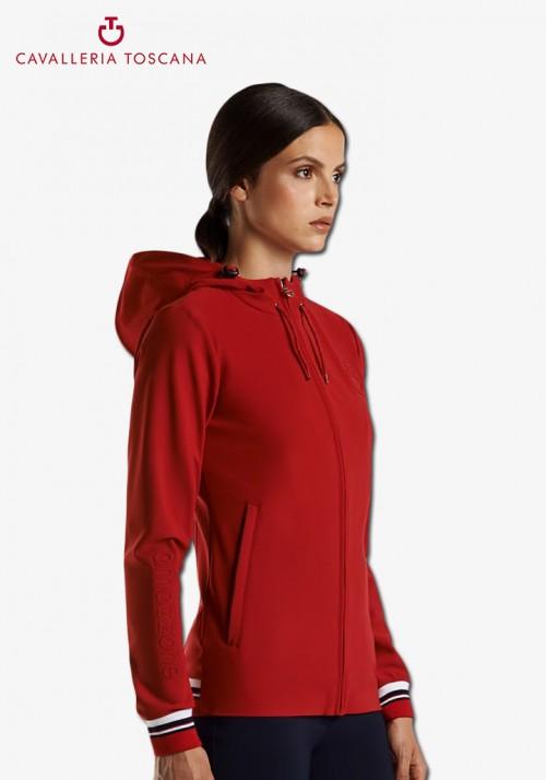 Cavalleria Toscana - Tennis Stripe Zip Sweatshirt