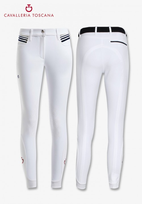 Cavalleria Toscana - Degradè Rib Knit Knee grip Breeches