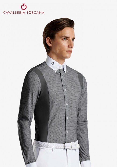 Cavalleria Toscana - Cotton/Tech Competition L/S Shirt