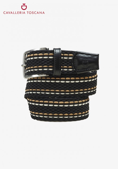 Cavalleria Toscana - Men's 3 stripe stretch belt
