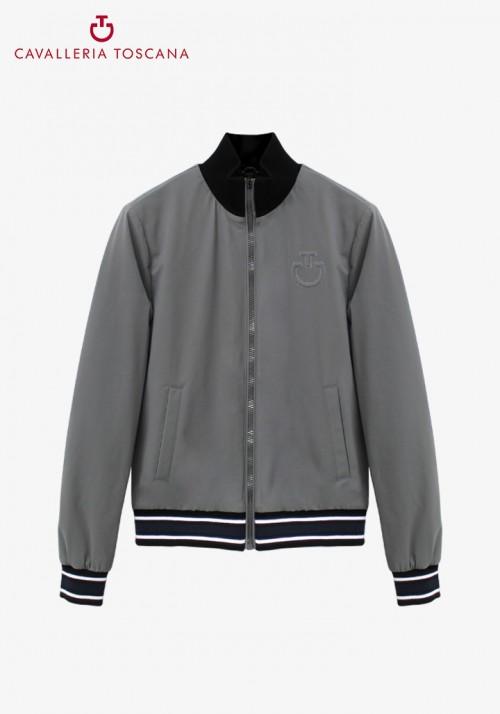 Cavalleria Toscana - Stretch jersey bomber jacket