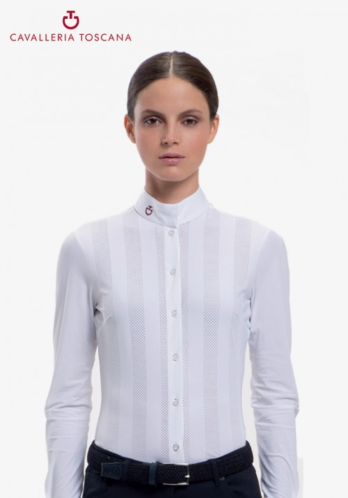 Cavalleria Toscana - Vertical Perforated Shirt L/S