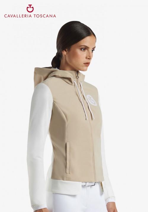 Cavalleria Toscana - Jersey nylon hooded jacket