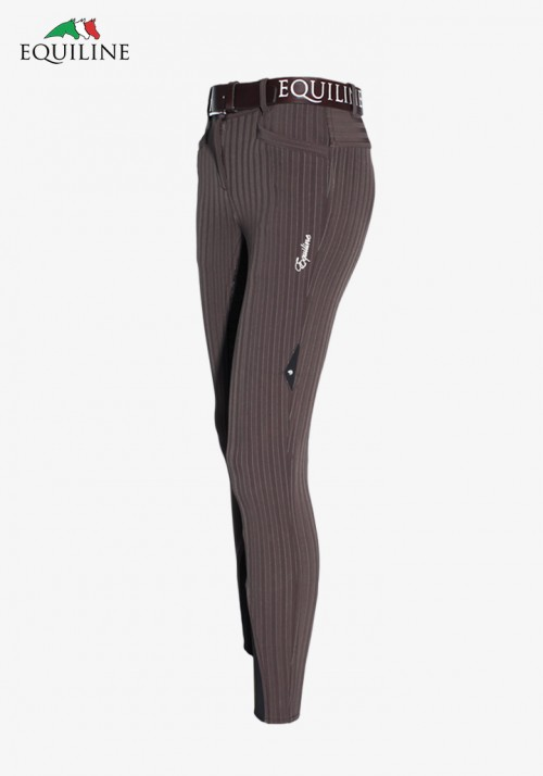 Equiline - Woman Winter Breeches Full Grip Kelly