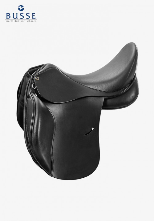 Busse - Saddle BASEL-FLEXI, black, short flaps