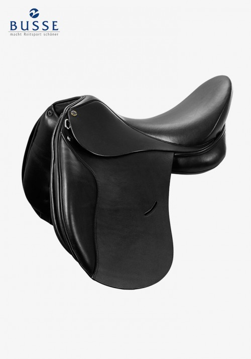 Busse - Saddle BASEL, black, short flaps