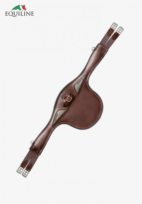 Equiline - Leather stud guard girth