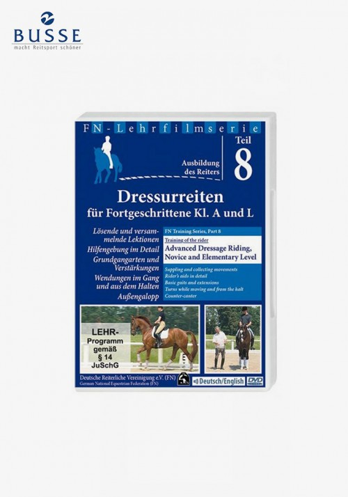 "Busse - DVD FN-Lehrfilm Teil 8 ""Advanced dressage riding, novice and elementary level """