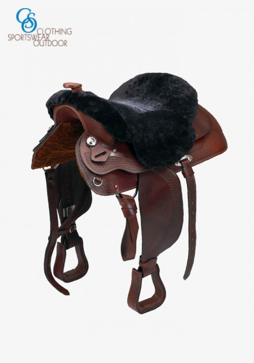 C.S.O. - Real sheepskin Western seat cover