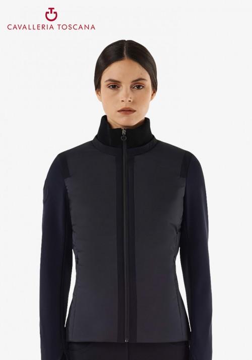 Cavalleria Toscana - Matte Nylon Zip Jacket With Jersey Insert