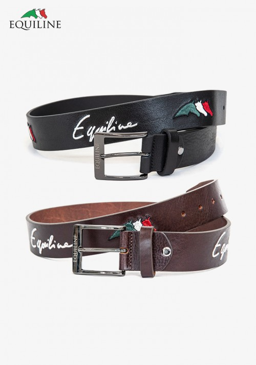 Equiline - Leather Emboidery Belt Logfil