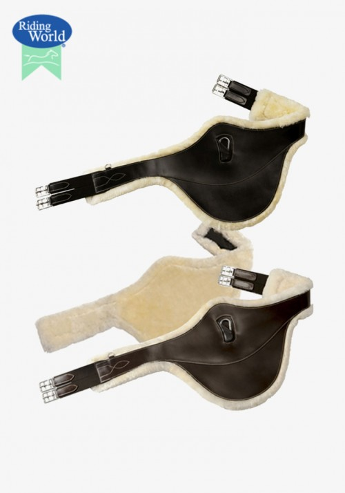 "Riding World - ""Sheepskin lined"" belly protector girth"