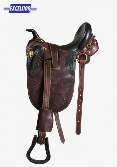 Excelsior - Topstitched Stock saddle with horn