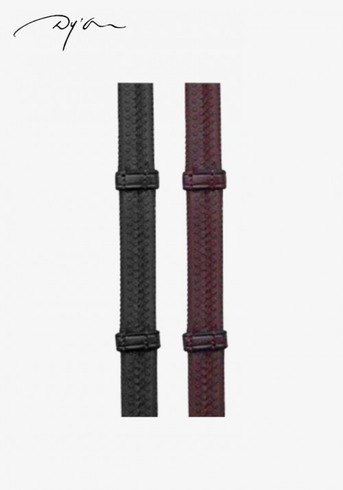 Dy'on - Rubber Reins with 7 Leather loops B235