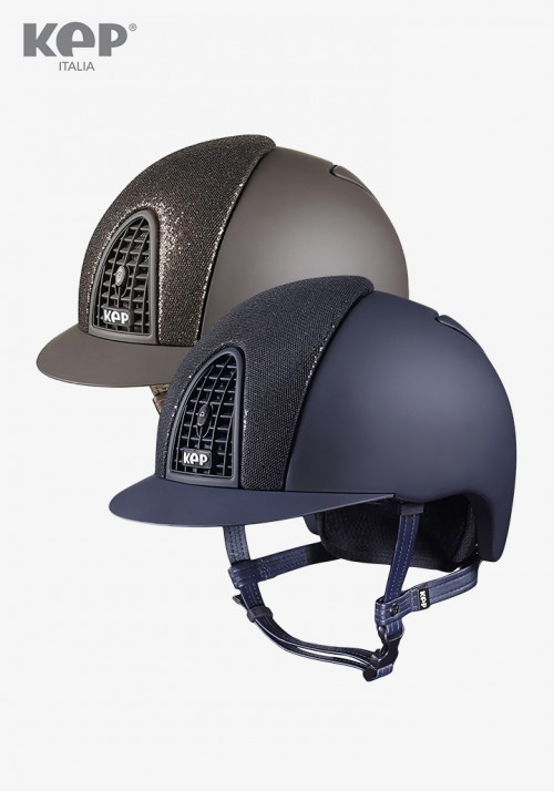 Kep - Riding Helmet Cromo Textile Glitter