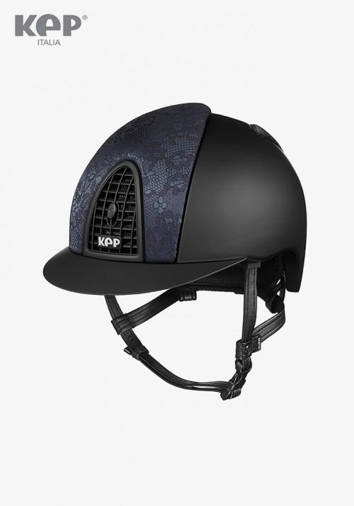 KEP - Riding Helmet Cromo Textile Woven Silk