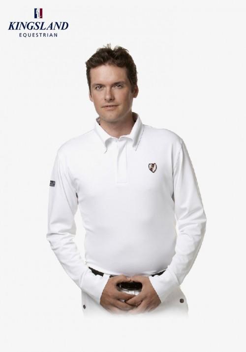Kingsland - Men's Polo Shirt long sleeves Edward Classic